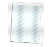 a lined ruled piece of paper Poster
