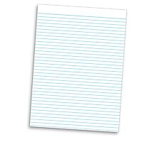 a lined ruled piece of paper Photographic Print