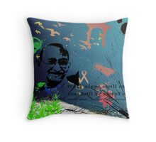 The Mahatma Throw Pillow