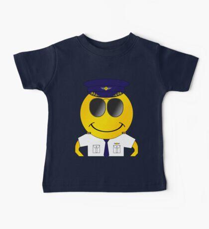 Smiley Pilot Baby Tee