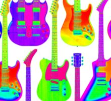 Colorful Electric Guitar Artwork Sticker