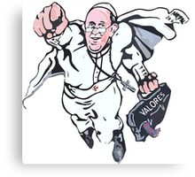 Pope Francis Superhero Canvas Print