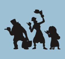 Haunted Mansion Hitchhiking Ghosts T-shirt & iPad Case Kids Tee