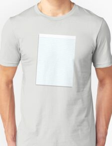 a lined ruled piece of paper T-Shirt