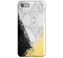 Marble with Black & Gold - gold foil, gold, marble, black and white, trendy, luxe, gold phone iPhone Case/Skin
