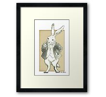 Mr. Rabbit and His Golden Watch Framed Print