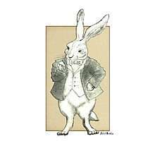 Mr. Rabbit and His Golden Watch Photographic Print