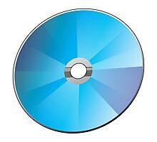 A blank CD or DVD Photographic Print