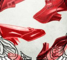 Souvenir of Oz. Vintage Red Shoes Sticker