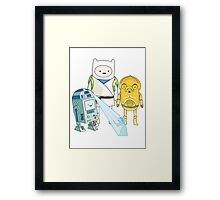 Adventure Time - Star Wars Framed Print