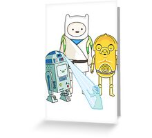 Adventure Time - Star Wars Greeting Card