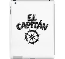 El Capitán Wheel Vintage (Black) iPad Case/Skin