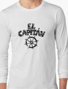 El Capitán Wheel Vintage (Black) Long Sleeve T-Shirt