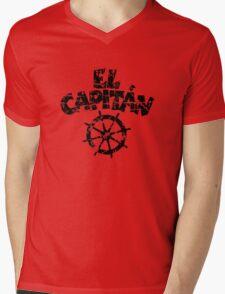 El Capitán Wheel Vintage (Black) Mens V-Neck T-Shirt