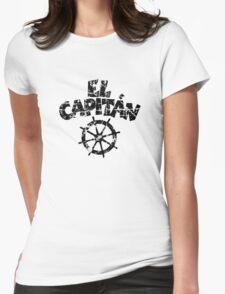 El Capitán Wheel Vintage (Black) Womens Fitted T-Shirt