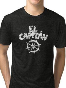 El Capitán Wheel Vintage White Tri-blend T-Shirt