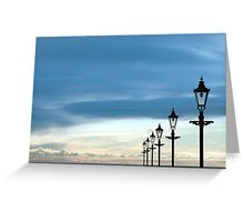row of vintage lamps Greeting Card