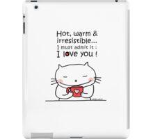 Coffee ... be my Valentine / Cat doodle iPad Case/Skin