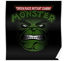 Green Rage Mutant Gamma Monster Poster