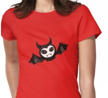 The sleepy bat Womens Fitted T-Shirt