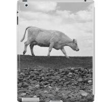 single cow feeding on the lush grass iPad Case/Skin