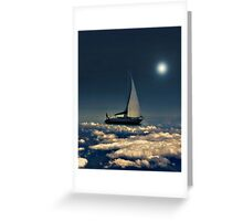 Navigating Trough Clouds Dreamy Collage Photography Greeting Card