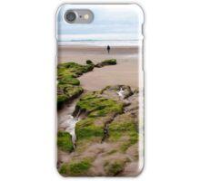 single girl walking near unusual mud banks iPhone Case/Skin