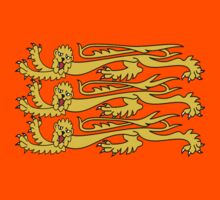 Royal Banner of England, Three Lions, 3 Lions, English, British, Britain, UK, RED by TOM HILL - Designer