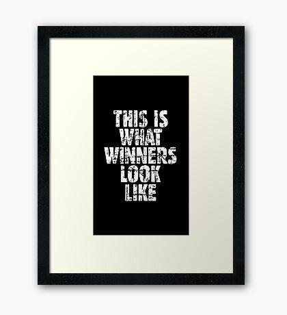 THIS IS WHAT WINNERS LOOK LIKE (Vintage White) Framed Print