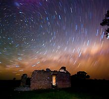 Star trail Barras Homestead # 2 by Murray Wills
