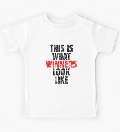 THIS IS WHAT WINNERS LOOK LIKE (Vintage Black/Red) Kids Tee