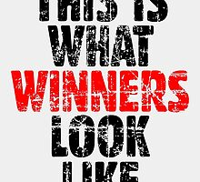 THIS IS WHAT WINNERS LOOK LIKE (Vintage Black/Red) by theshirtshops