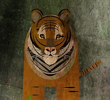 Textured Vintage Tiger Illustration by FUNCTIONALFOX