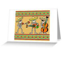 los músicos de los muertos Greeting Card