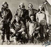"""1940 RAF aircrew, """"To Billy with love"""" by Woodie"""