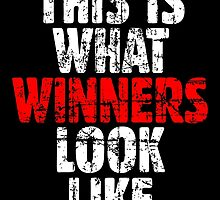 THIS IS WHAT WINNERS LOOK LIKE (Vintage White/Red) by theshirtshops