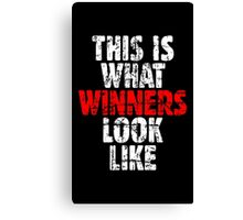 THIS IS WHAT WINNERS LOOK LIKE (Vintage White/Red) Canvas Print