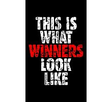 THIS IS WHAT WINNERS LOOK LIKE (Vintage White/Red) Photographic Print
