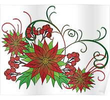 Poinsettias less busy Poster