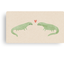 Lizard Love Canvas Print
