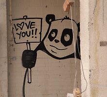 Inner city Panda Bear by kitza