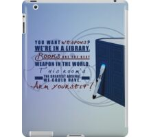 Books are the best weapon in the world iPad Case/Skin