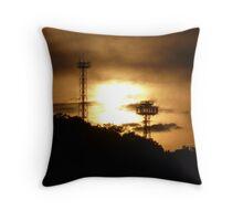 Land of the Rising Sun Antenna Throw Pillow