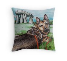 Zeus at Pentre Ifan Burial Chamber Throw Pillow