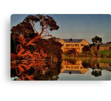 """Morning Reflections at The Minya Winery"" Canvas Print"