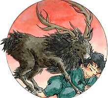 NBC Hannibal - Will and the Ravenstag by glas-onion