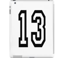 TEAM SPORTS, NUMBER 13, THIRTEEN, THIRTEENTH, ONE, THREE, Competition,  iPad Case/Skin