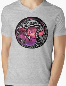 Tribal Mew Mens V-Neck T-Shirt