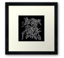 The Plant (black) Framed Print