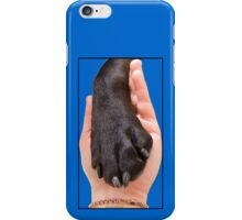 Black Dog Paw In Hand iPhone Case/Skin